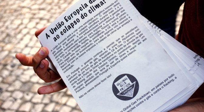 Sábado, Dia 13 de Outubro: Global Gasdown-Frackdown_Acção seguida de Jantar Popular no GAIA