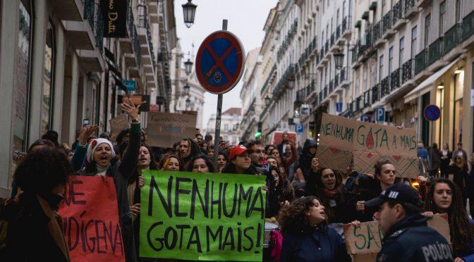 31Janeiro pelos direitos povos indígenas do Brasil, em Portugal